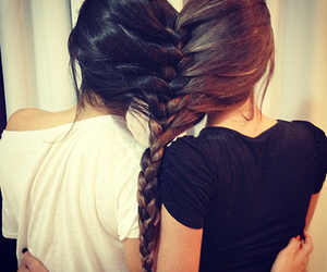 friends, braid, and best friends image