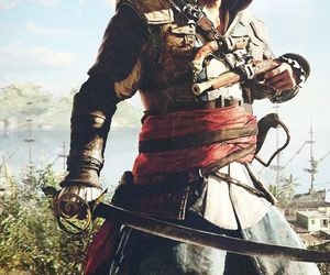 black flag, pirate, and assassin's creed image