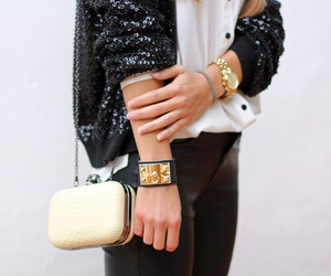 accessories, black, and bracelet image