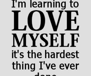 love, quote, and myself image