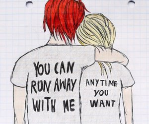 my chemical romance, drawing, and summertime image