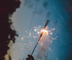 inspiring, light, and sparkler image