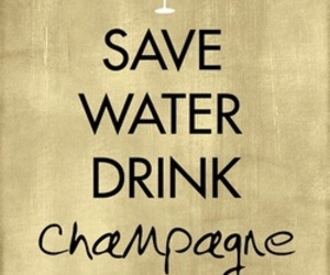 champagne, quotes, and water image