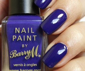 barry m, indigo, and nail polish image