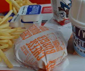food, McDonalds, and yum image