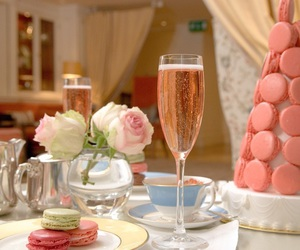 champagne, pink, and luxury image