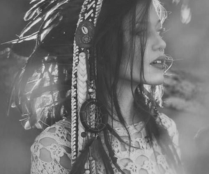 girl, indie, and black and white image
