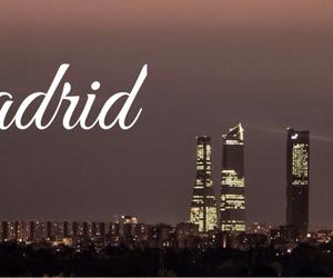 city, lights, and madrid image