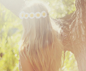 flower crown, girl, and photography image