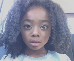 skai jackson, baby, and black image