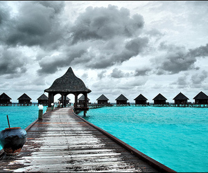 black, ocean, and turquoise image