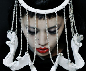 accessory, headpiece, and haute goth image