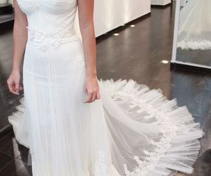 dress, gown, and strapless image