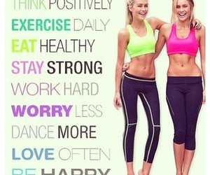 healthy, motivation, and fit image