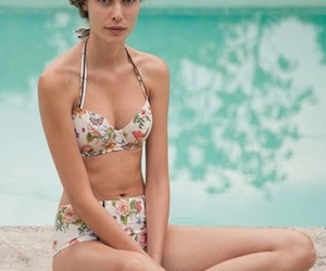 floral, summer, and swimsuit image