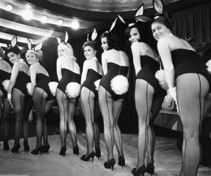 Playboy, black and white, and bunny image
