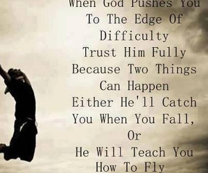 god, fly, and trust image