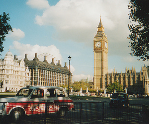 london, Big Ben, and car image