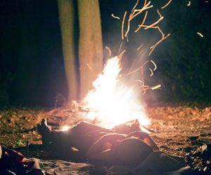vintage, fire, and night image