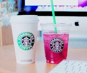 starbucks, apple, and coffee image
