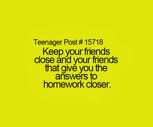 homework, friends, and teenager post image