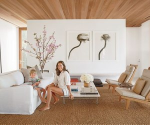 wooden ceiling, kelly klein, and sisal rug image