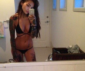 body, girl, and tattoo image
