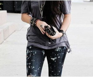 fashion, jeans, and miley cyrus image