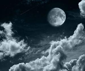 sky, night, and moon image