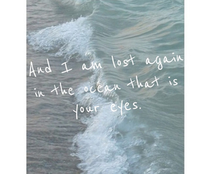 love, ocean, and quote image