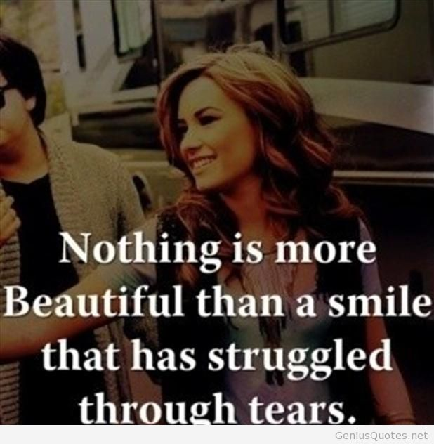 Beautiful smile quote with a woman image on We Heart It