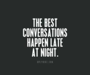 conversation, night, and text image
