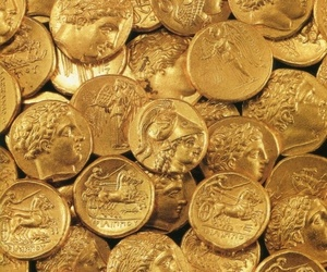 coin, gold, and aesthetic image