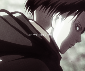 anime, shingeki no kyojin, and rivaille image