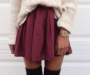 burgundy, knit, and OMG image