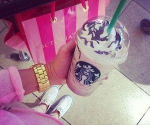 starbucks, pink, and Victoria's Secret image
