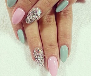 nails, pink, and pastel image