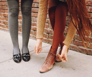 fashion, feet, and tights image