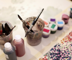 paint brushes and watercolor image