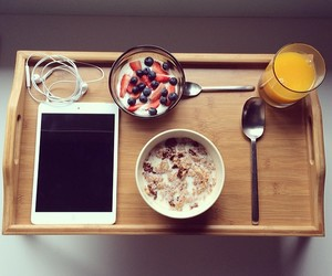 breakfast, FRUiTS, and yammy image