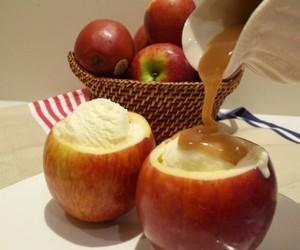 apple, food, and ice cream image