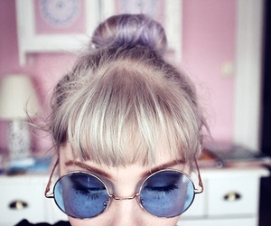 blonde, pink, and sunglasses image