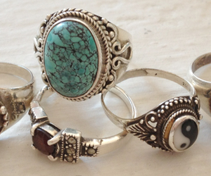 rings, vintage, and pretty image