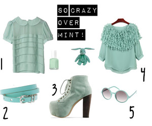 blouses, green, and mint image