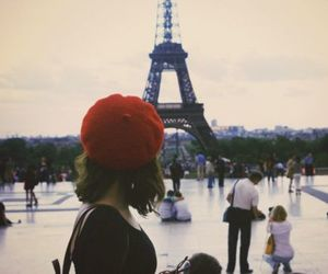 paris, photography, and red image
