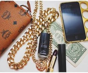 gold, iphone, and chanel image