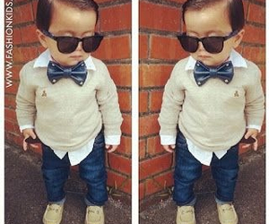 adorable, baby, and bowtie image