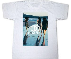 chanel, t-shirt, and tumblr image