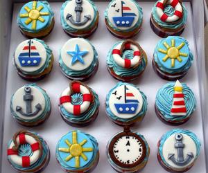 cupcake, anchor, and food image