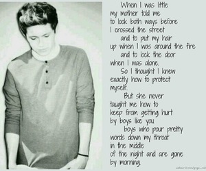 black and white, quote, and 1d image